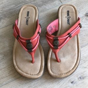 Minnetonka suede thong sandals